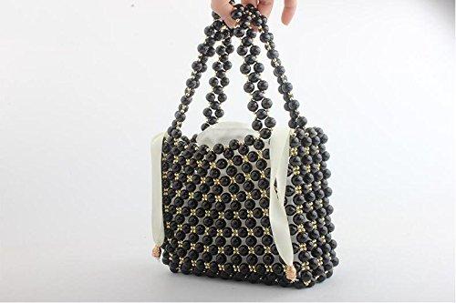 sac perlé sac main banquet clubs sac sac de de dames soirée Perle pochette partie à main mariage pour les fait de Black d8wqOCX