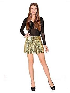 32b032b4ac DISBACANAL Falda de Lentejuelas para Mujer - Plata Claro