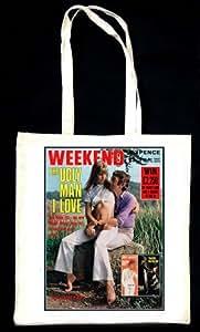 Serge Gainsbourg and Jane Birkin Weekend Magazine Tote Bag