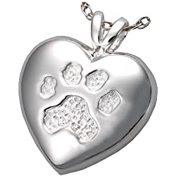Memorial Gallery Pets 3198s A Touch Of Your Paw Sterling Silver Cremation Pet Jewelry