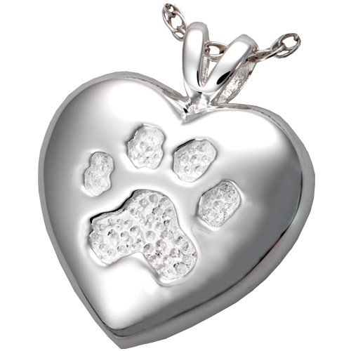 Memorial Gallery Pets 3198s A Touch Of Your Paw Sterling Silver Cremation Pet Jewelry by Memorial Gallery Pets