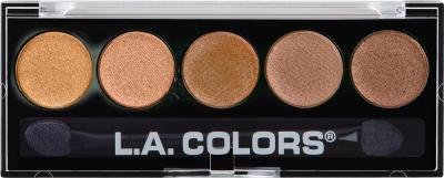 Amazon.com : L.A. Colors 5 Color Metallic Eye Shadow Palette - Tea ...