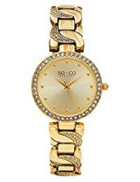 SO & CO New York  Women's 5062.2 SoHo Analog Display Quartz Gold Watch