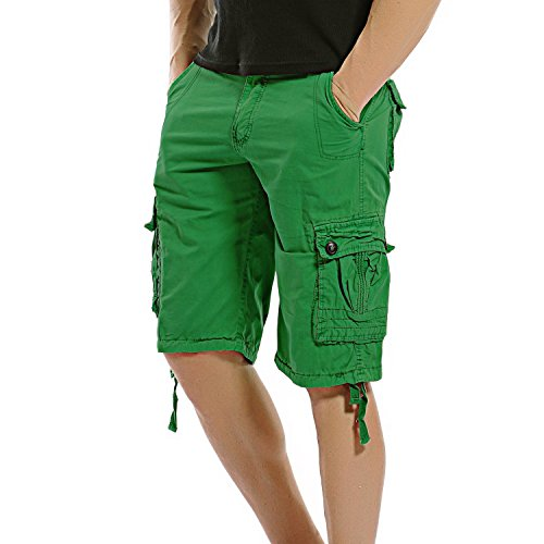 AOQ Mens Cotton Cargo Shorts Loose Fit