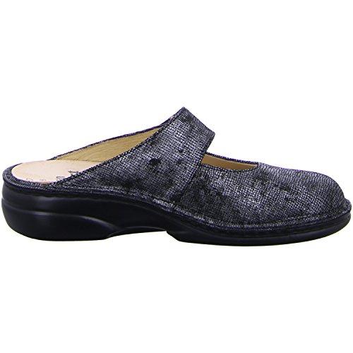 Finn Comfort 02552-525397, Mules pour Femme Argent-noir