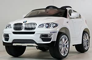 Parent Remote Control Battery Childs Toy & Kids Electric Ride On Car BMW X6 Under License, Power Wheel With Key For Start