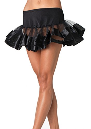 Ready To Wear Dance Costumes (Petticoat Satin Trimmed Costume Accessories - Tutu - Rave Dance Wear (Black))