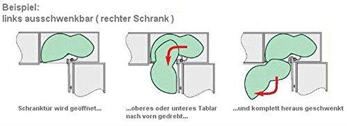Kesseböhmer LeMans Eckschrank-Schwenkauszug für 45cm Türbreite ... | {Eckschrank küche auszug 55}
