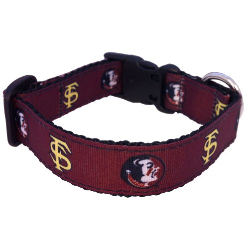 NCAA Florida State Seminoles Dog Collar (Team Color, Medium)