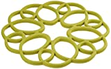 Rachael Ray Silicone Heat Resistant Multi-Use Medallion Design Trivet, Celery Green