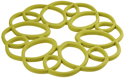 Rachael Ray Silicone Heat Resistant Multi-Use Medallion Design Trivet, Celery Green by Rachael Ray