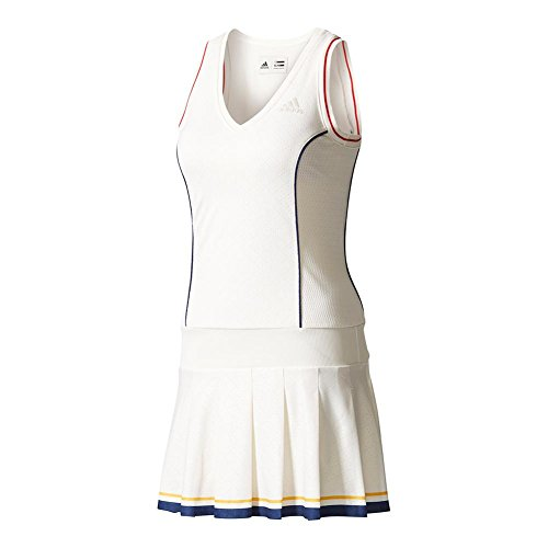 fan products of ADIDAS BQ9112-F17 Women`s New York Pharrell Williams Solid Tennis Dress Chalk White