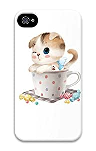 iPhone 4S Case Lovely Cat Pattern Hard Back Skin Case Cover For Apple iPhone 4 4G 4S Cases