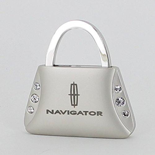 Lincoln Navigator Purse Shape Keychain W/6 Swarovski Crystals