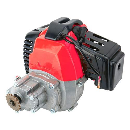 YaeGarden 49cc Engine 2 Stroke with Gear Reduction Transmission for 17T T8F Sprocket Pocket Bike Gas Scooter Mini ATV