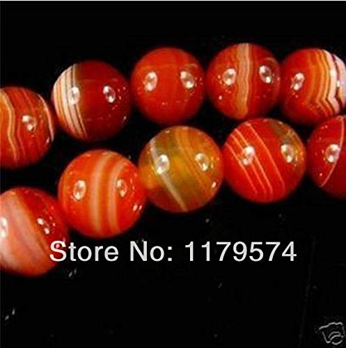 Calvas Thermal Free Deliver Goods Wholesale and Retail Beautiful 8mm Natural red Onyx Sardonyx Round Beads Hand Made Strand 15