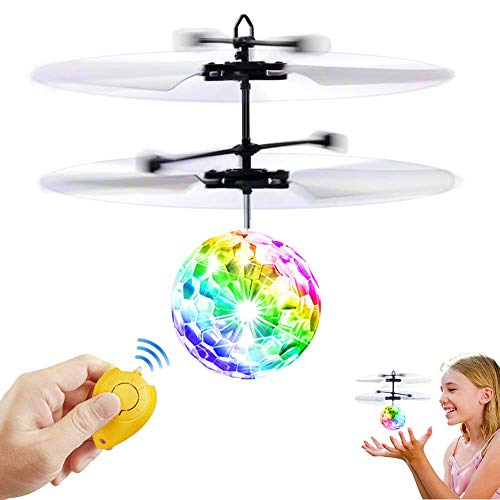 Transparent Color Flying Toy Flying Ball, RC Flying Toy, Kid Toys, RC Toy For Kids Boys Girls Gifts Rechargeable Light Up Ball, Mini Infrared Induction Flying Ball - Best Gifts For 6-12 Boys Girls