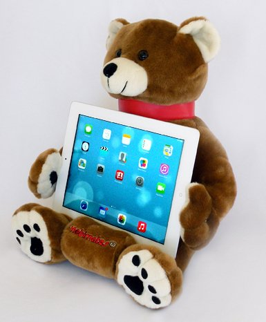 LAP PRO - MOBIMATES Universal Lap StandToy for ALL Tablets Ereaders & Books. iPad Air iPad Retina iPad Mini iPad iPad 2 iPad 3 iPad 4 Nook Galaxy Nexus Xoom Acer. -Adjustable Angle 30-89 Deg.- (Brown Bear)
