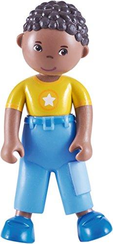 """Search : HABA Little Friends Erik - 4"""" African American Boy Bendy Doll Figure"""