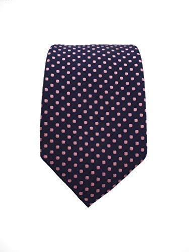 Rosa Schmale Herren Krawatte Schlips Novel Hochwertige Krawatte Handgefertigt Gepunktete Business-Krawatte Farben: Schwarz 6 cm breit
