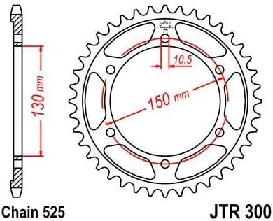 JT High Carbon Steel Rear Sprocket JTR300.46 Teeth fits Yamaha FZ8 N//NA 10-15 39P