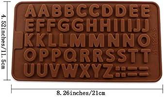 Moldes de silicona con diseño de letras de chocolate para ...