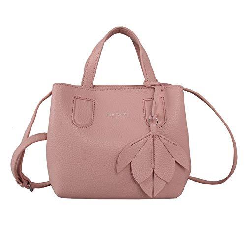 Designer Red Cuckoo London 373 Grab Bag with Flower Detail Pink