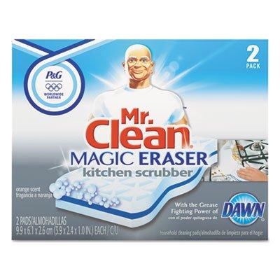 Mr. Clean Magic Eraser Kitchen Scrubber, 3 9/10 inch x 2 2/5 inch, 2/Box, 12 Boxes/Carton