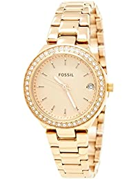 Women's 'Blane' Quartz Stainless Steel Casual Watch, Color:Rose Gold-Toned (Model: ES4337SET)