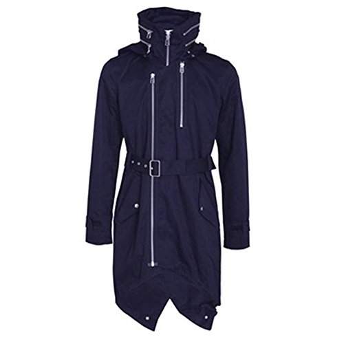 Mens Adidas SLVR Fishtail Parka Coat Jacket Trench Navy RRP £199 ...