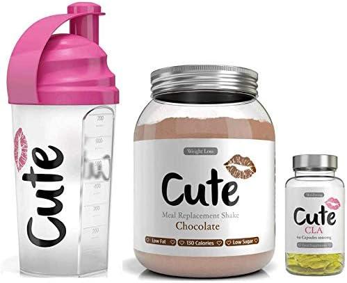 Cute Nutrition Batido Sustitutivo de Comida de Chocolate con ...