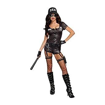 Dreamgirl Womenu0027s DEA Secret Agent Cop Costume Black Small  sc 1 st  Amazon.com & Amazon.com: Dreamgirl Womenu0027s DEA Secret Agent Cop Costume: Clothing