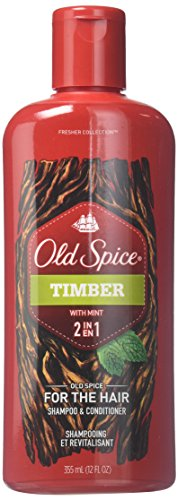 Old Spice Timber with Mint 2-in-1 Shampoo and Conditioner, 12 Fluid Ounce (Pack of 2)