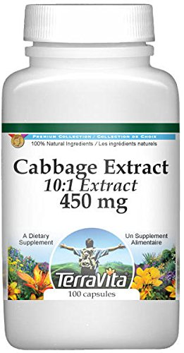 Extra Strength Cabbage 4:1 Extract - 450 mg (100 capsules, ZIN: 513798)