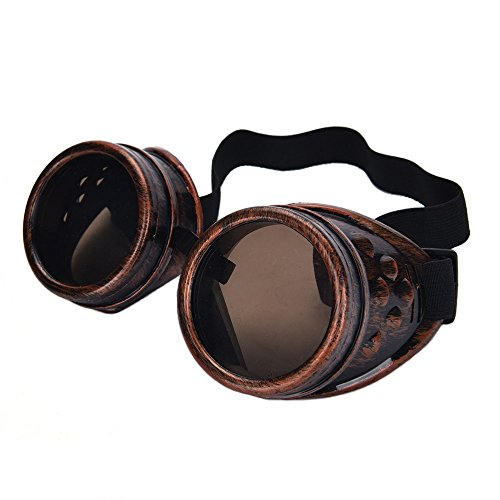 Warmtree toy 2 Pair Steampunk Goggles Vintage Glasses For Cosplay, - Steampunk Spectacles