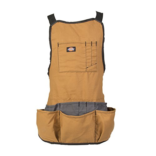 Dickies Work Gear 57027 Grey/Tan 16-Pocket Bib Apron 8 Pocket Heavy Duty Work
