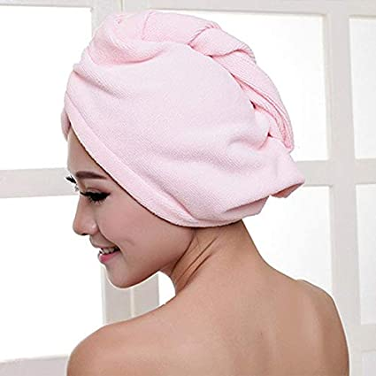 fd8571ecf8c Image Unavailable. Image not available for. Colour: Florencenid Superfine  Fiber Bath Hair Dry Hat Shower Cap Soft Strong Water Absorbing Quick Dry  Head