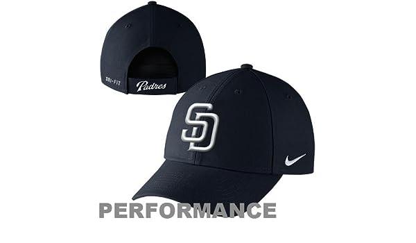 c79db5f47f01d Amazon.com   Nike San Diego Padres Dri-FIT Wool Classic Adjustable  Performance Hat - Navy Blue   Baseball Caps   Sports   Outdoors