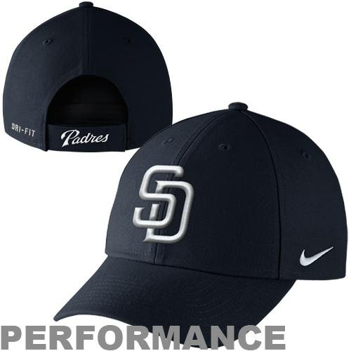 Nike San Diego Padres Dri-FIT Wool Classic Adjustable Performance Hat - Navy Blue