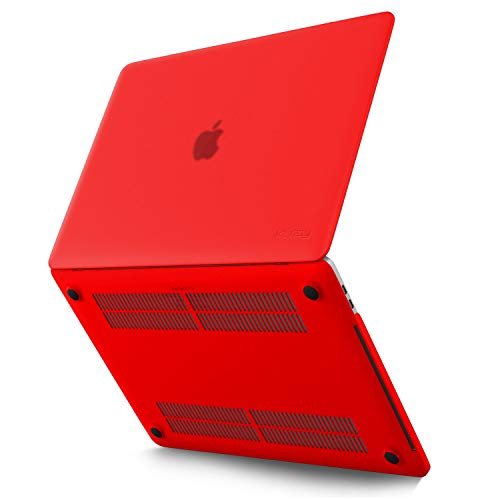 MacBook Pro 13 inch Case 2019 2018 2017 2016 Release A1989 A1706 A1708, Kuzy Plastic Hard Shell Cover for Newest 13 inch MacBook Pro Case with Touch Bar Soft Touch - RED