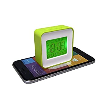 Thumbs Up Smart Alarm Reloj sincronizado con Smartphone, Blanco/Verde: Amazon.es: Juguetes y juegos