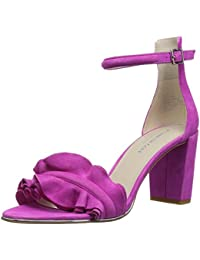 Womens Langley Ankle Ruffle Detail On Front Strap Heeled Sandal