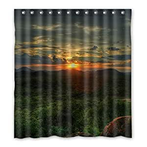 Custom Sunset Shower Curtain Polyester 167cm x 183cm
