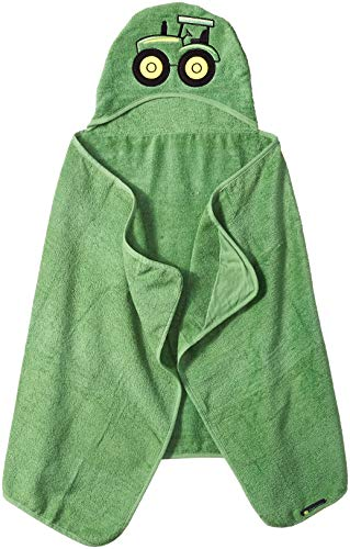 John Deere Kids' Toddler Hooded Towel, Green, ONE ()