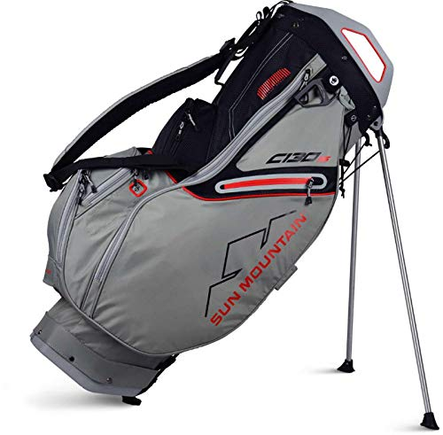 Sun Mountain Golf 2019 C-130S Stand Bag CEMENT-BLACK-RED (Cement-Black-Red)