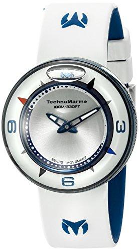 Technomarine Unisex TM-813001 Aqua Sphere Analog Display Swiss Quartz White Watch