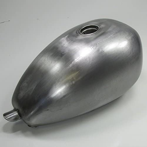 Harley Sportster Chopper Bobber Cafe Racer Fuel Cell Steel Screw in Gas Cap Bung 1.8 Gallon Sporty Frisco Wassell Style P Nut Peanut Custom Motorcycle Gas Tank LOW Tunnel