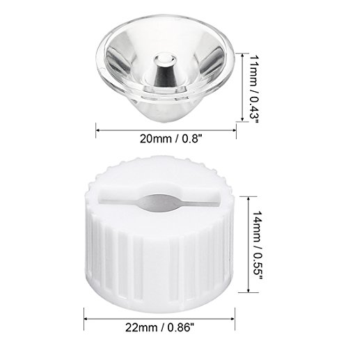 Led Sourcing Bianco 8 Luce Per Con Lente Supporto Map 20mm 10pz Grado wCZIq