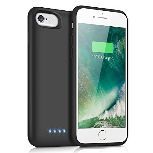 Battery Case for iPhone 6s/6,6000mAh Portable Charging Case Rechargeable External Battery Pack for Apple iPhone 6/6s Protective Charger Case Backup Power Bank (4.7 Inch) (Black)