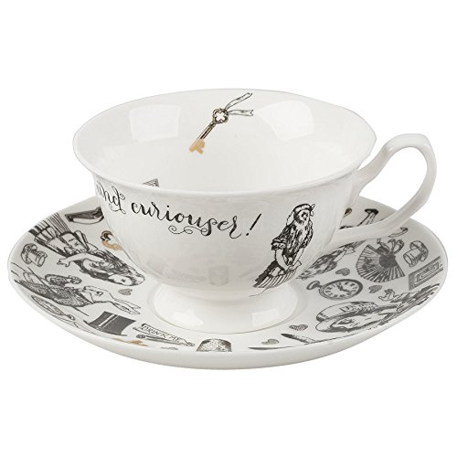 V&a Alice In Wonderland Fine China Tea Cup And Saucer